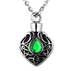 VALYRIA Memorial Jewelry Celtic Knot with CZ Stone Charm Urn Necklace Keepsake Cremation Ashes Pendant * Be sure to check out this awesome product.(This is an Amazon affiliate link and I receive a commission for the sales)