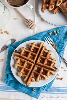 Banana bread waffles
