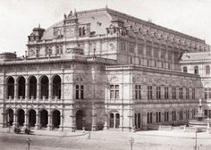 Victor Angerer - Opera House, 1870 Balerina, Vienna, Old Photos, Opera House, Rome, Past, Sisters, Old Things, Louvre