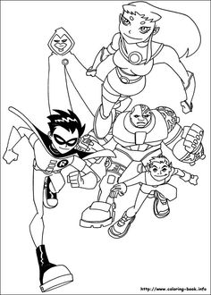 Teen Titans coloring picture