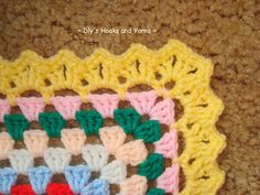 Pretty border pattern by Debi Yorst of Dly's Hooks and Yarns .  . . . .   ღTrish W ~ http://www.pinterest.com/trishw/  . . . .    #crochet #edging