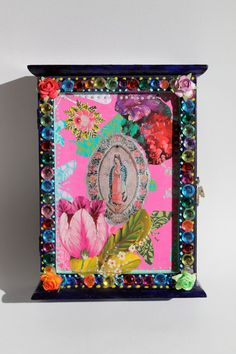 Upcycled vintage key box with Virgin Mary and by TheVirginRose
