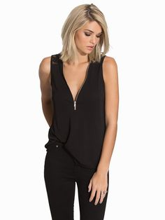 Nelly.com: Zipper Lace Top - NLY Trend - women - Black. New clothes, make - up and accessories every day. Over 800 brands. Unlimited variety.
