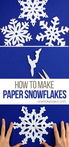 Paper snowflakes are SO SIMPLE and super inexpensive to make! This is such a classic kids craft and a super fun winter activity for kids, teens, tweens, grown ups and seniors. Make up your own designs or use one of our printable paper snowflake templates. It's easy to make beautiful and perfect looking snowflakes every single time!
