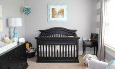 Quarto de bebê cinza, amarelo e turquesa | Quarto de bebê - Decoração, bebês, gravidez e festa infantil