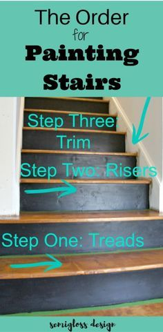 how to paint stairs | how to stain stairs | refinish a staircase | order for painting stairs