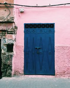I have this thing with doors. Pink & Blue colour combo!