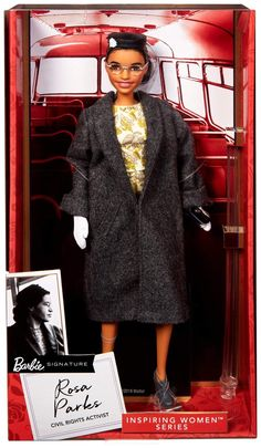 Doll Clothes Barbie, Vintage Barbie Dolls, Mattel Barbie, Celebrity Barbie Dolls, Blonde Kids, Black Baby Girls, Signature, Rosa Parks, Doll Stands