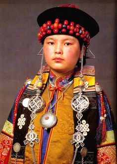 """Buryat attire and costume published in """"Die Mongolen""""  #world #cultures"""