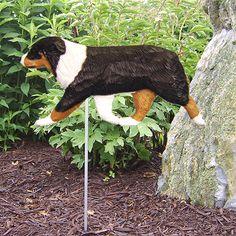 4-Coat Styles-Australian Shepherd Dog Figure Garden Stake. Home Yard & Garden Dog Pet Products