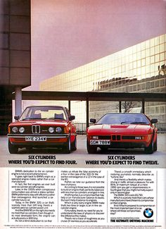 Interesting, because now BMW has been forced to switch to four cylinder engines for most of their lineup. E36 Coupe, Bmw E21, Bmw Vintage, Bavarian Motor Works, Bmw Classic Cars, Classic Auto, Bmw Alpina, Bmw Series, Series 3