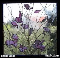 Image result for spring flowers stained glass