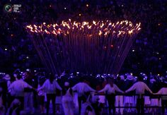 70 The Olympic Cauldron is seen alight during the opening ceremony of the London 2012 Olympic Games. MIKE SEGAR/REUTERS