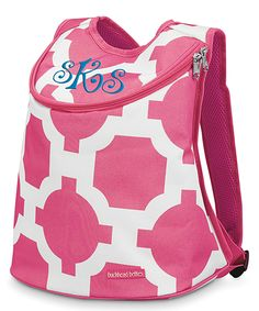Chocolate & Pink Personalized Lunch Cooler Bag | Backpack, Coolers ...