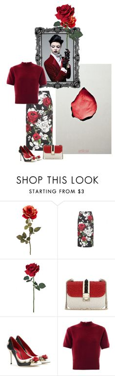 """""""Untitled #3611"""" by dream-flying ❤ liked on Polyvore featuring Dolce&Gabbana, Behance, Valentino and Marc Jacobs"""