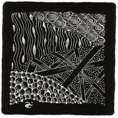 Aimée P. Belair, Certified Zentangle Teacher - CZT - Sutton, MA: More fun with black Zentangle tiles