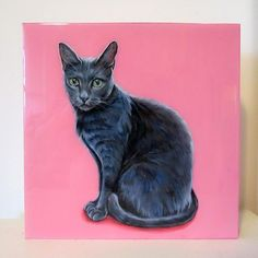 8x8 inches $150 CAD, The loss of a pet is never easy but a custom pet portrait is a great way to remember them by #catsympathy #catmemorial #catloss