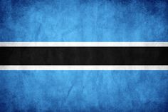 The flag of Botswana is a flag consisting of a light blue field cut horizontally in the centre by a black stripe with a thin white frame. Adopted in 1966 to replace the Union Jack, it has been the flag of the Republic of Botswana since the country gained independence that year. It is one of the few African flags that utilizes neither the colours of the Pan-Africanist movement nor the colours of the country's leading political party.