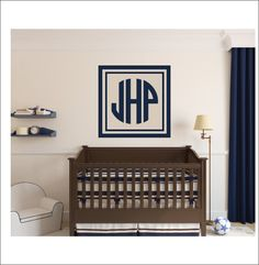 Personalized Monogram Name Or Lettering Vinyl Wall Decal - Custom vinyl wall decals circles
