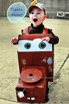 Amazing Homemade 3D Mater Costume ...This website is the Pinterest of costumes