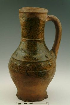 15259: jug; baluster jug Production date: Late Medieval; mid 14th-mid 15th century Measurements: H 330 mm