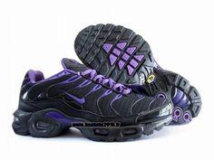Nike Air Max Tn Requin Tuned 1 Chaussures Baskets2016 Pas Cher Pour Femme Noir - Violet
