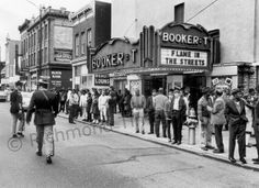 This January 1969 image shows the Booker-T Theater at 114 W. Broad St. in downtown Richmond. Opened in 1911 as the Empire Theatre, it closed for several years in the late 1920s and early '30s after a fire. Between 1933 and 1974, it was the Booker-T, hosting movies and vaudeville shows. Theatre IV purchased the building in 1986 and restored it over several years, opening it as the Empire once again. It is now known as the Sara Belle and Neil November Theatre