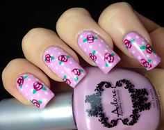 """Nail Polish Wars: Vintage Roses using Adore Nail Polish """"True Love"""", """"My Happily Ever After"""", and """"To Have And  To Hold"""""""