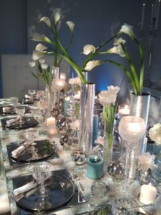 tulips and calla tablescape