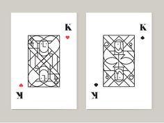hearts & spades designed by Miguel Cortinas. Card Deck, Deck Of Cards, Bead Embroidery Tutorial, Playing Cards Art, Poster Ads, Aesthetic Art, Cute Drawings, Game Art, Card Games