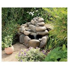 Babbling Boulders water feature
