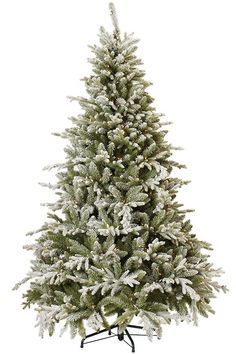 Martha Stewart Living™ Snowy Cambridge Fir Pre-Lit Artificial Tree - Faux Christmas Trees - Artificial Christmas Trees - Faux Xmas Tree - Entryway Tree - Pre-lit Christmas Tree | HomeDecorators.com