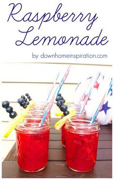 Sweet and Refreshing Raspberry Lemonade - Down Home Inspiration