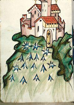 Konrad Kyeser: Bellifortis. Deutschland (exact location unknown) 1401-1450. Bibliothèque municipale de Besançon BM MS.1360  fol 073v
