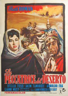 manifesto 2F originale LA PECCATRICE DEL DESERTO Arnoldo Foà Ruth Roman 1958