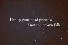 Lift your head up