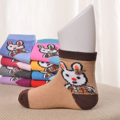 Hot Sale new design  Spring new cartoon  cotton1-3 years old  baby  socks thick warm in tube socks Four Seasons