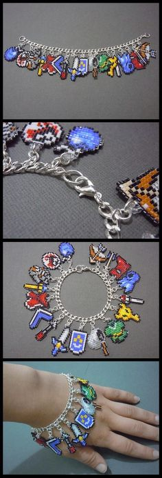 Legend of Zelda pixelated bracelets… I can actually do this! :D