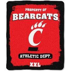 Cincinnati Bearcats Fleece Blanket Throw 50 x 60