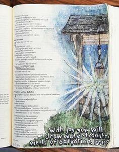 Isaiah 3 Original Bible Art Journaling Challenge 22 rebekahrjones by Patsy Scripture Doodle, Scripture Study, Bible Art, Bible Drawing, Bible Doodling, Bible Prayers, Bible Scriptures, Isaiah Bible, Isaiah 12