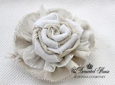 Tutorial DIY to make a two tone rosette flower. from The Decorated House