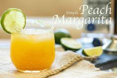 Simple Peach Margarita | sharedappetite.com