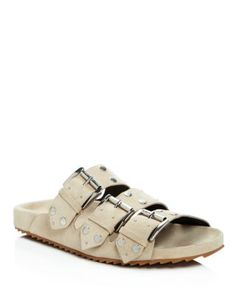 Rebecca Minkoff Tania Studded Slide Sandals  | Bloomingdale's