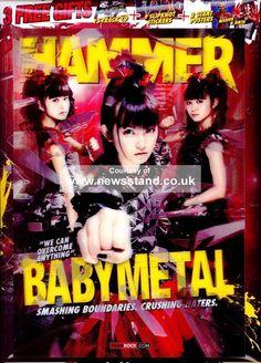Babymetal's second Metal Hammer cover! A special lenticular cover! Heavy Metal Art, Heavy Metal Bands, Kpop Posters, Band Posters, Harajuku, Doki, Metal Albums, Metal Magazine, Kawaii