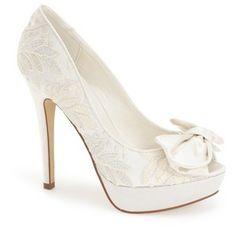 """Menbur'Flora' Bridal Platform Pump, 4"""" heel"""