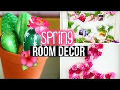 DIY Spring Room Decor & Wall Decor + Tumblr Inspired | LaurDIY - YouTube