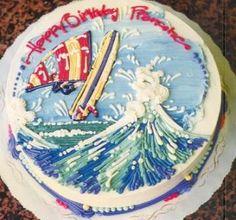 Windsurfing Birthday Cake