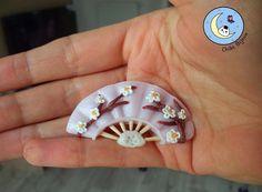 Chibi Bijoux: Mini éventail Sakura - polymer clay