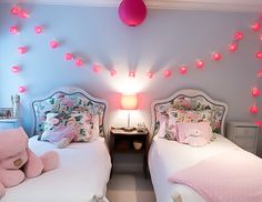 Girls Bedroom Colors, Chinese Lanterns, Bedrooms, Colorful, Furniture, Home Decor, Decoration Home, Room Decor, Bedroom