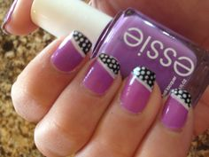 Purple polka dot nails
